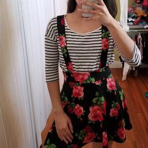 Suspender Floral Skirt
